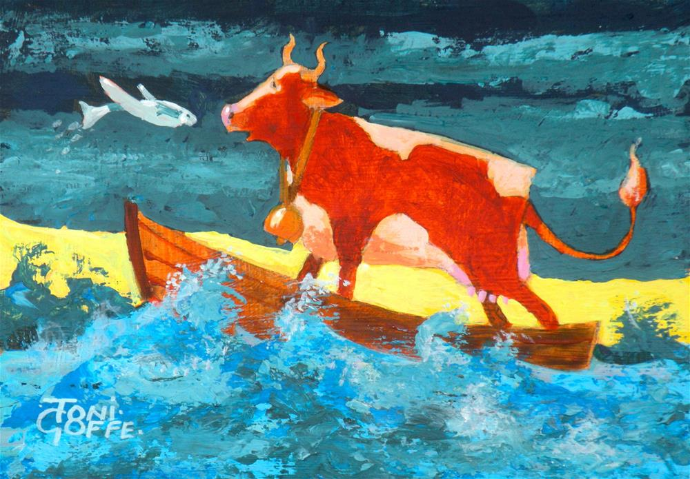 """Close Encounter"" original fine art by Toni Goffe"