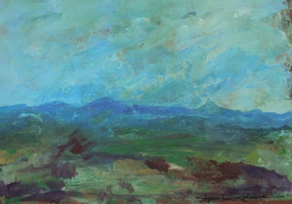 """Cascade Chaos"" original fine art by Jana Johnson"