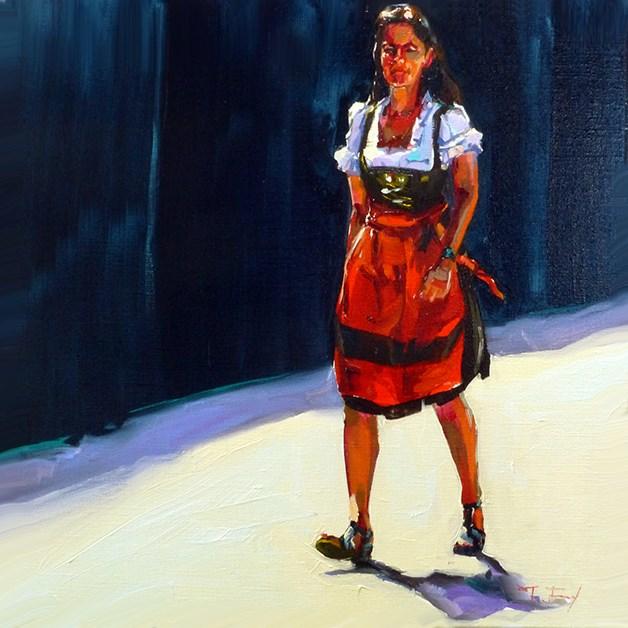 """""""Rothaus-Mädchen"""" original fine art by Jurij Frey"""