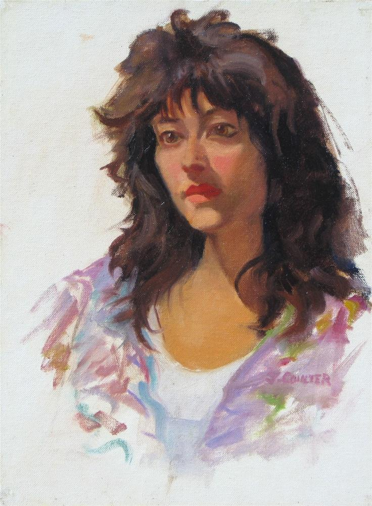 """Monique"" original fine art by James Coulter"
