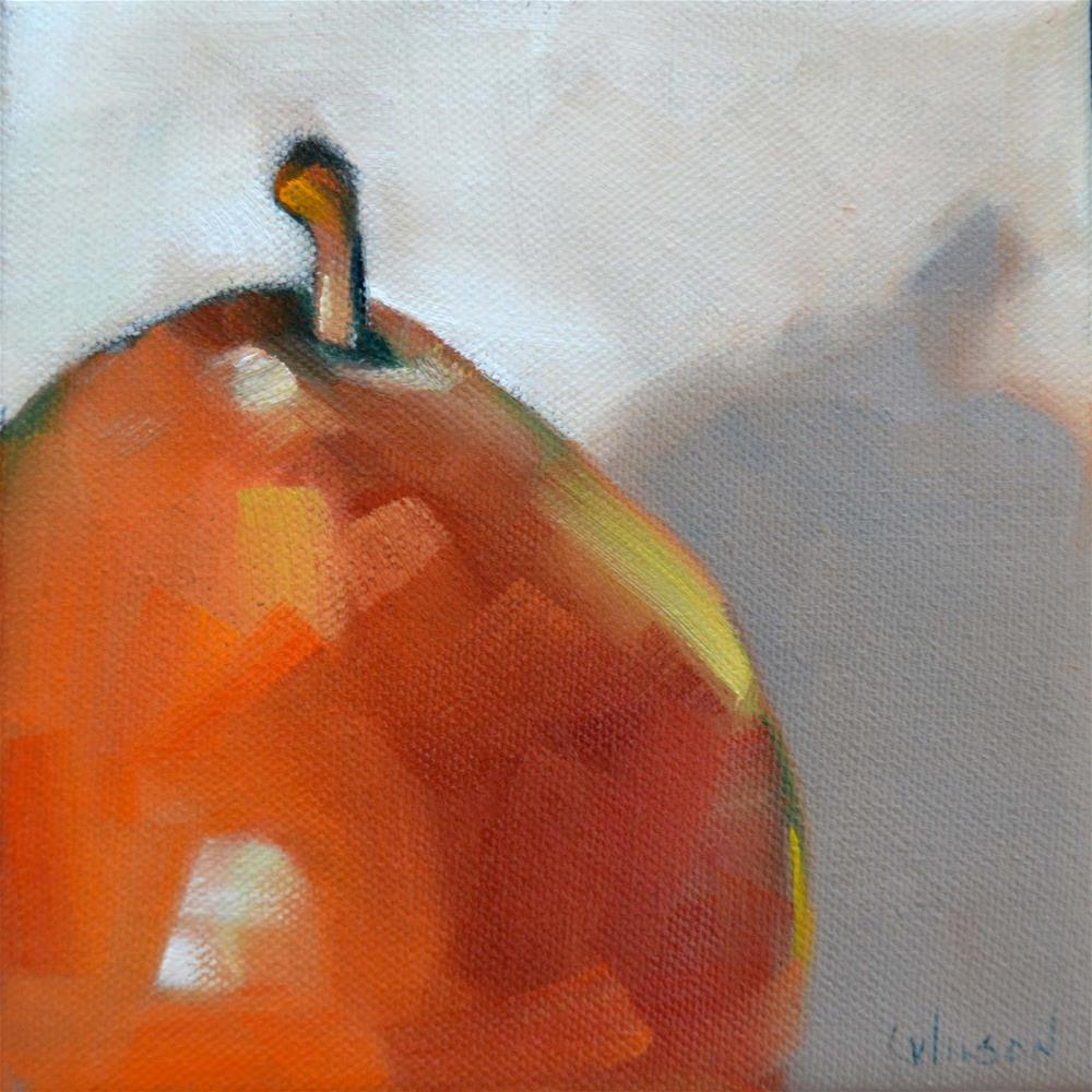 """Red Pear Stem"" original fine art by Cheryl Wilson"