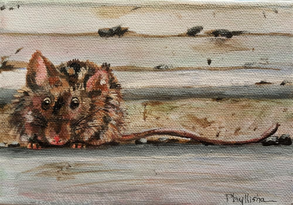 """""""There's a Mouse on the House!"""" original fine art by Phyllisha Hamrick"""