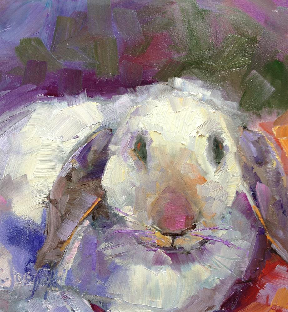 """Bunny"" original fine art by Carol Josefiak"