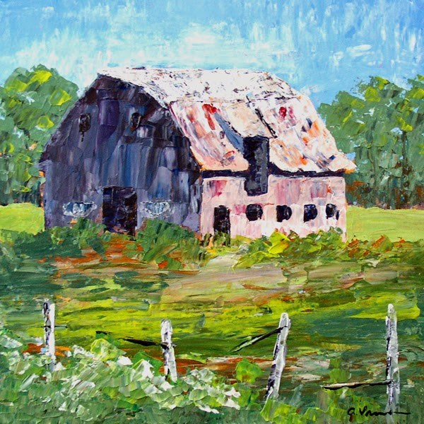 """Barn #17"" original fine art by Anna Vreman"