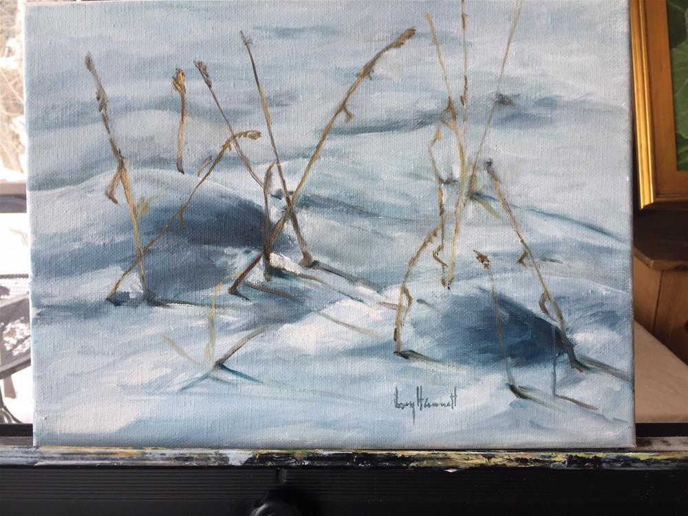 """SNOW VALUE"" original fine art by Lucy Hammett"
