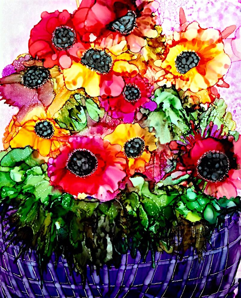 """Anemones"" original fine art by Korinne Carpino"