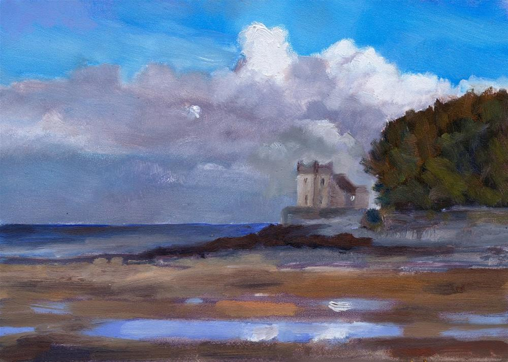 """Balcary Bay, Galloway"" original fine art by Christine Derrick"