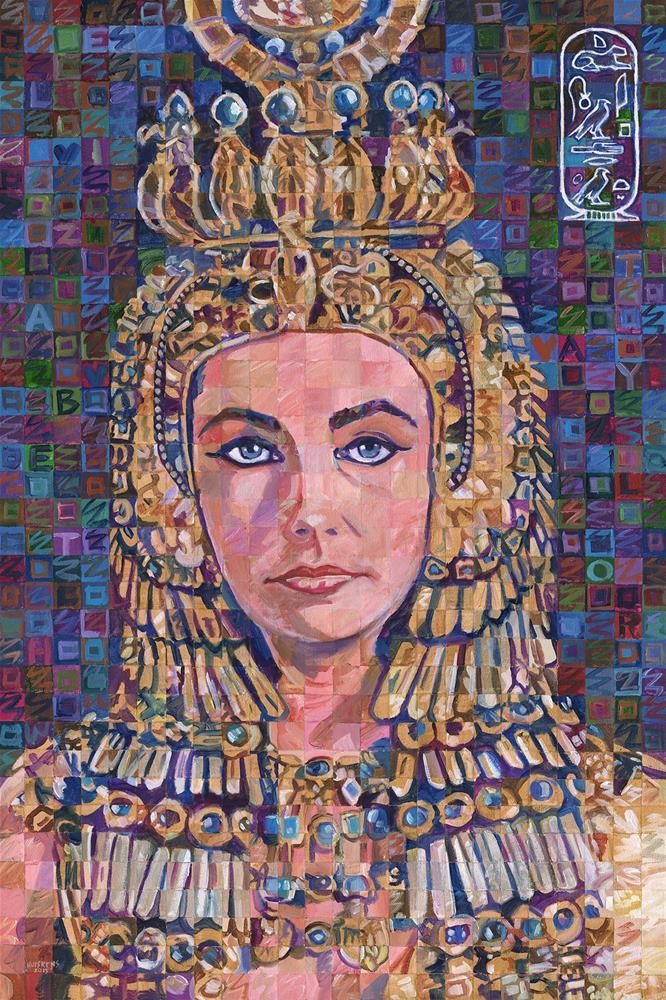 """Iridescent Cleopatra (Elizabeth Taylor)"" original fine art by Randal Huiskens"