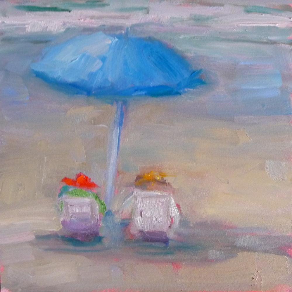 """a day at the beach"" original fine art by Carol Josefiak"
