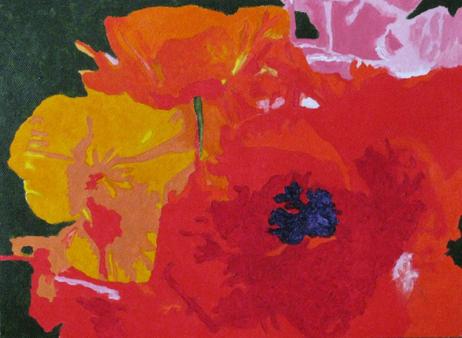 """Poppies"" original fine art by Nan Johnson"
