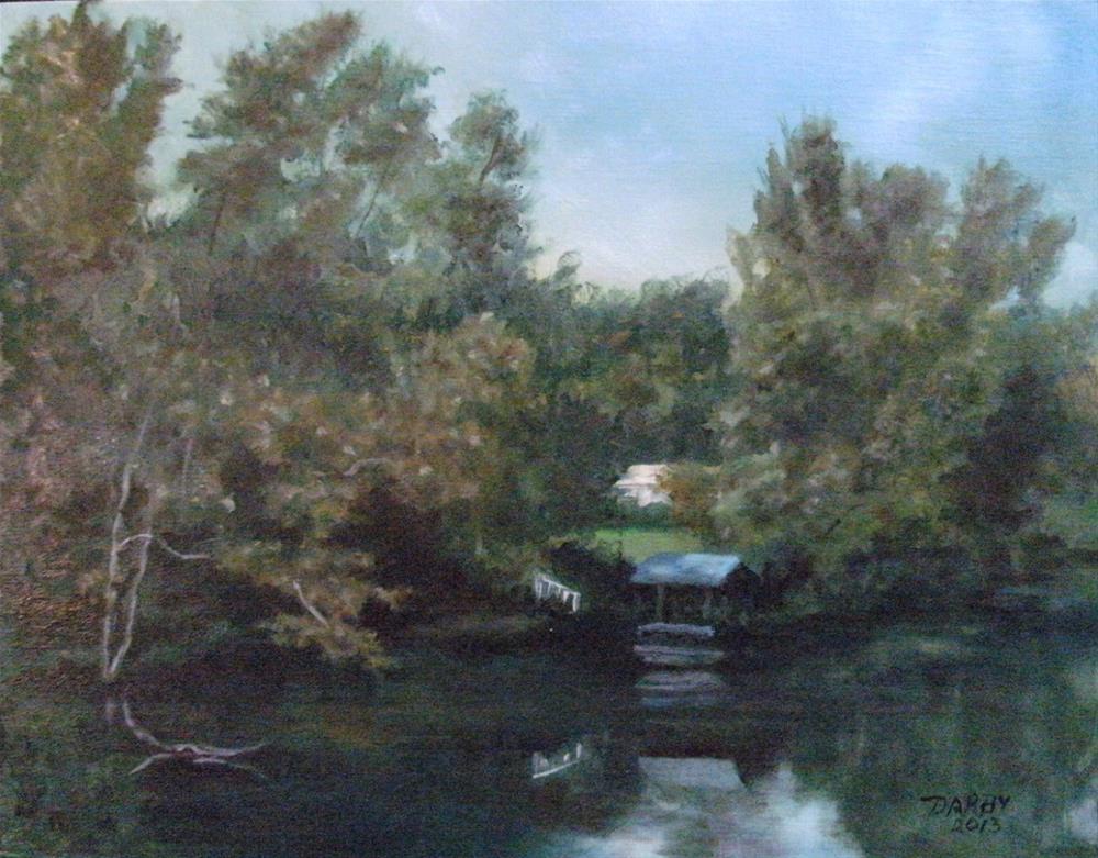 """Cane River Lake II"" original fine art by Lynn Darby"