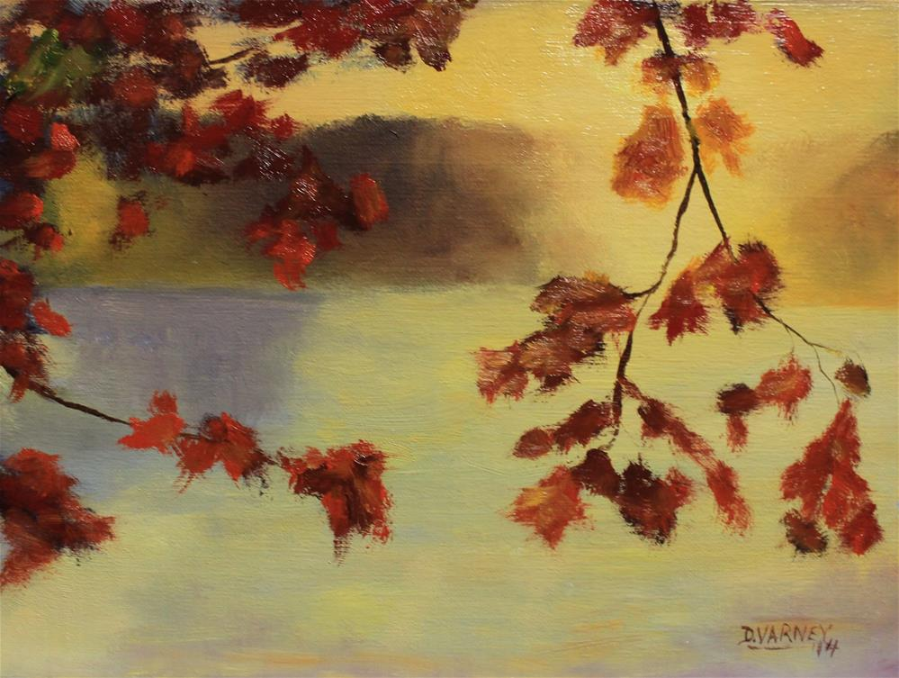 """Autumn Sunset"" original fine art by Daniel Varney"