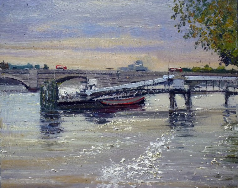 """Morning Light, Putney Bridge"" original fine art by Adebanji Alade"