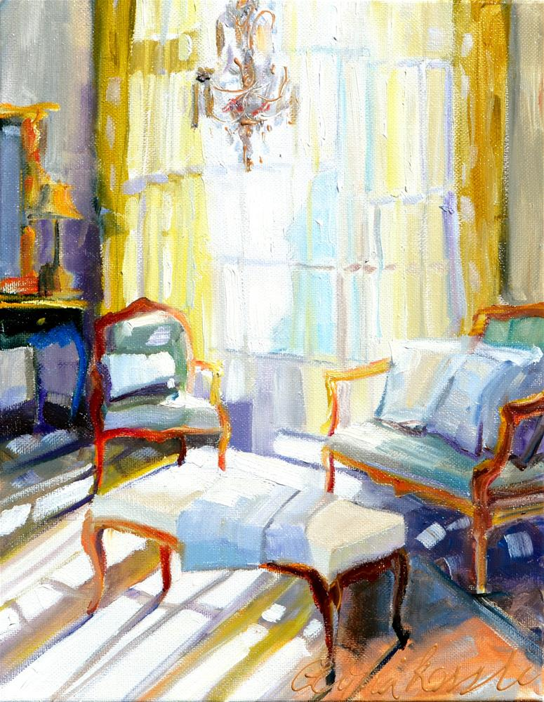 """SUNLIT ROOM"" original fine art by Cecilia Rosslee"