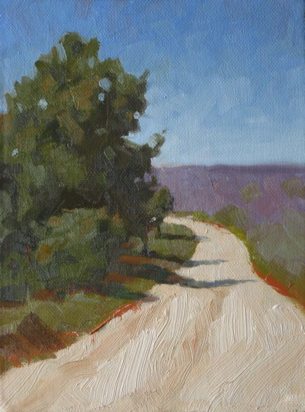 """French countryside 6x8 oil"" original fine art by Claudia Hammer"