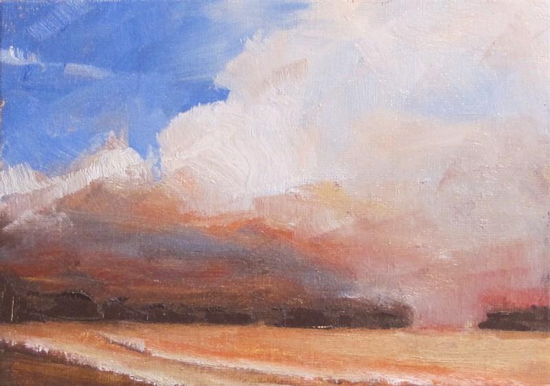 """Stormy weather"" original fine art by Helen Moreda"