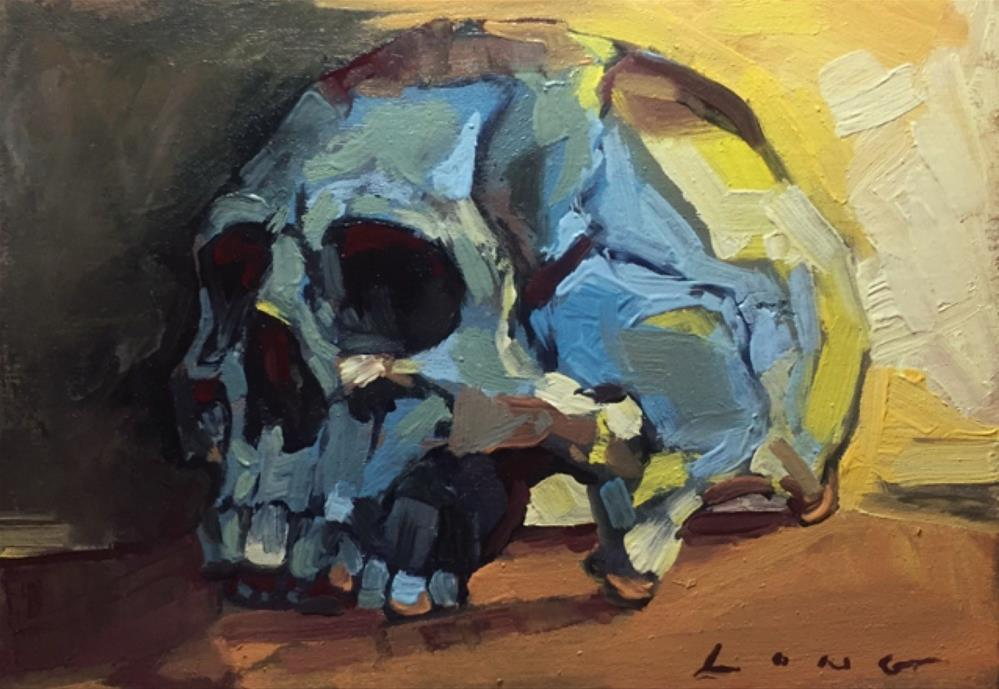 """Skull Study III"" original fine art by Chris Long"