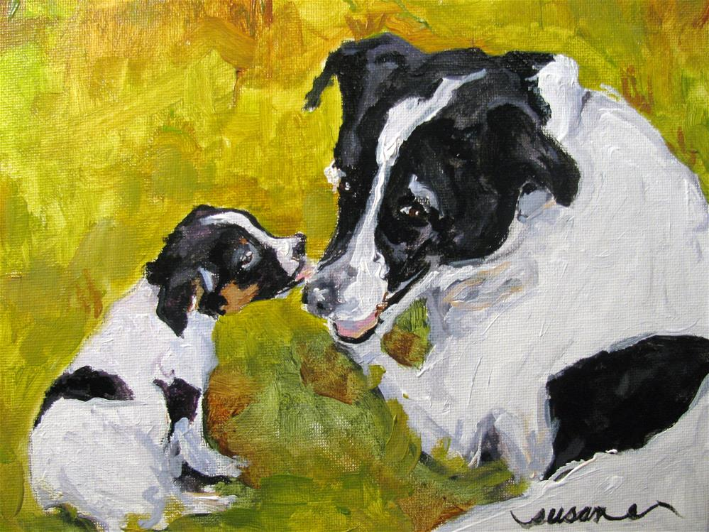 """Scout and Marshall"" original fine art by Susan Elizabeth Jones"