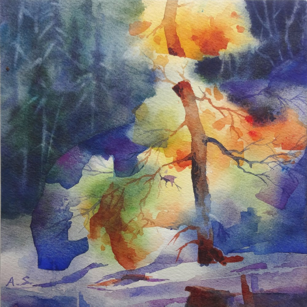 """Autumn Glow"" original fine art by Arena Shawn"