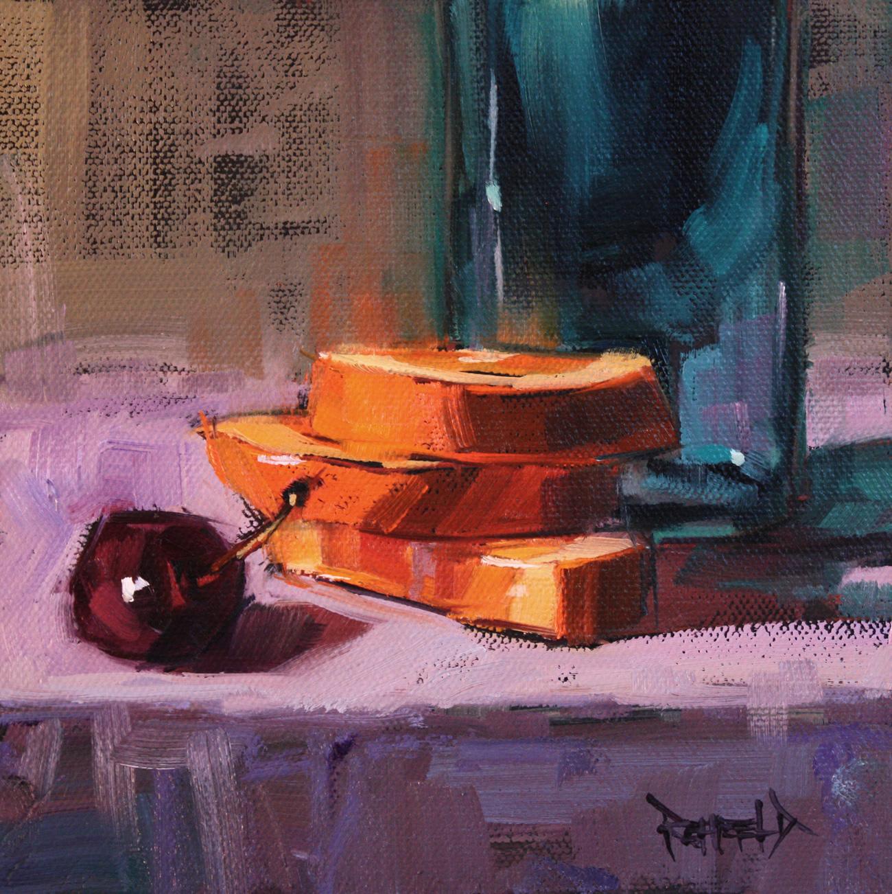 """Oranges and Cherry"" original fine art by Cathleen Rehfeld"