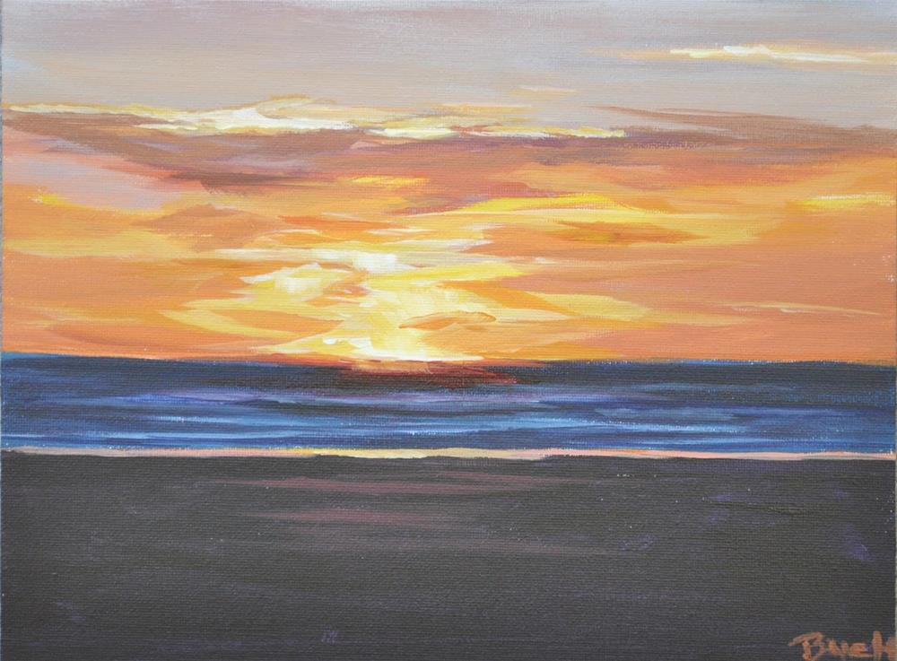 """Cannon Beach Sunset"" original fine art by Shari Buelt"