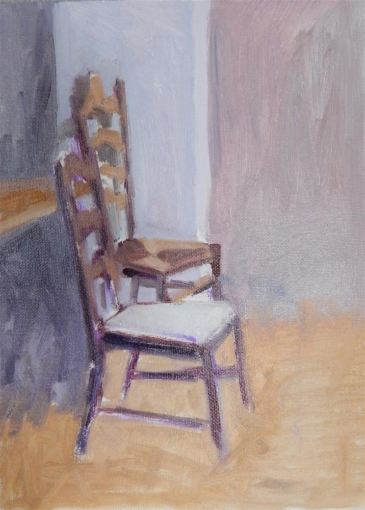 """Two Chairs"" original fine art by Megan Schembre"