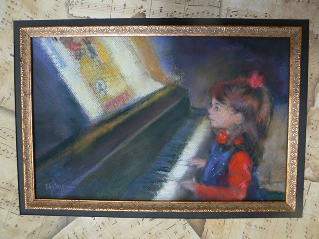 """Recital II, Pastel, SOLD"" original fine art by Carol Schiff"