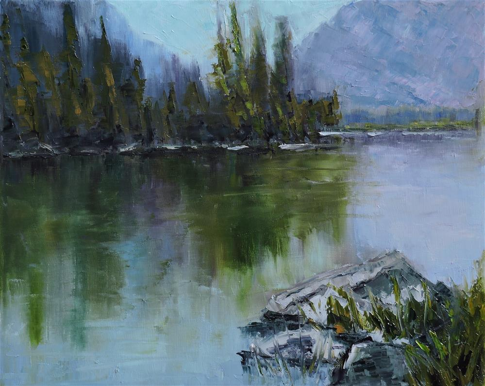 """Lake Irwin, Crested Butte, Co"" original fine art by Linda mooney"