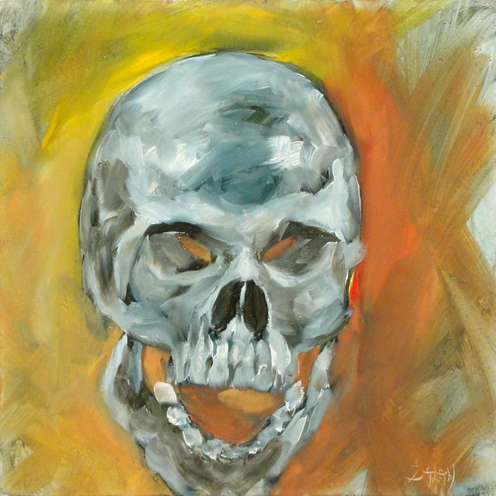 """Halloween Skull Study"" original fine art by Dalan Wells"