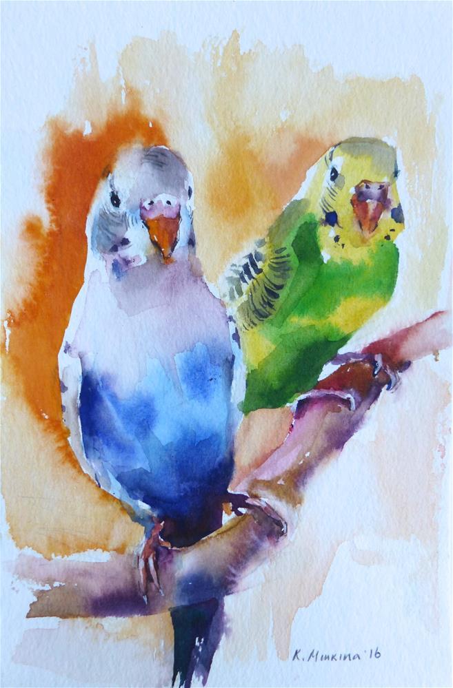 """budgie20"" original fine art by Katya Minkina"
