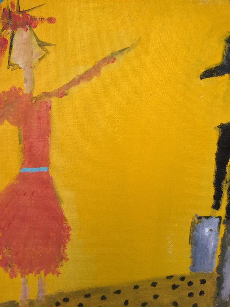"""Yellow yellow catch a fellow..or hey..I said hey..."" original fine art by pamela kish"