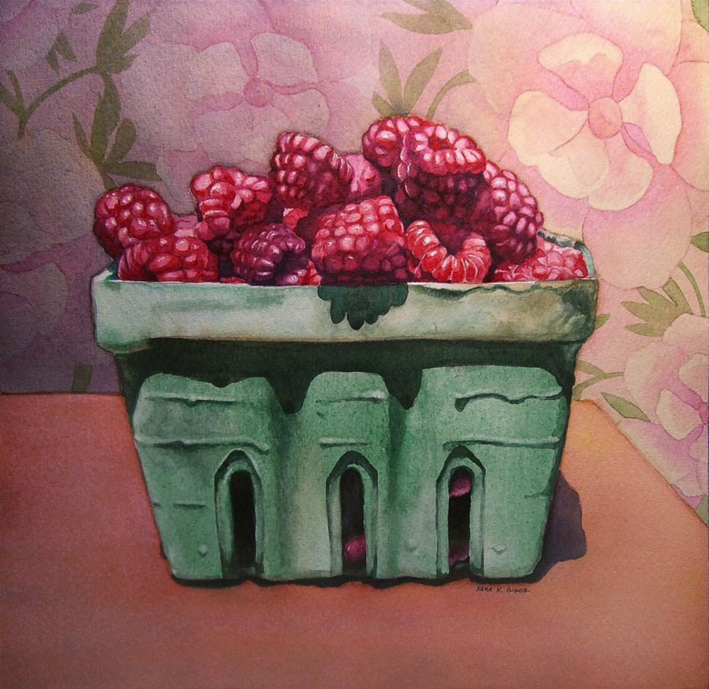 """Raspberries"" original fine art by Kara K. Bigda"
