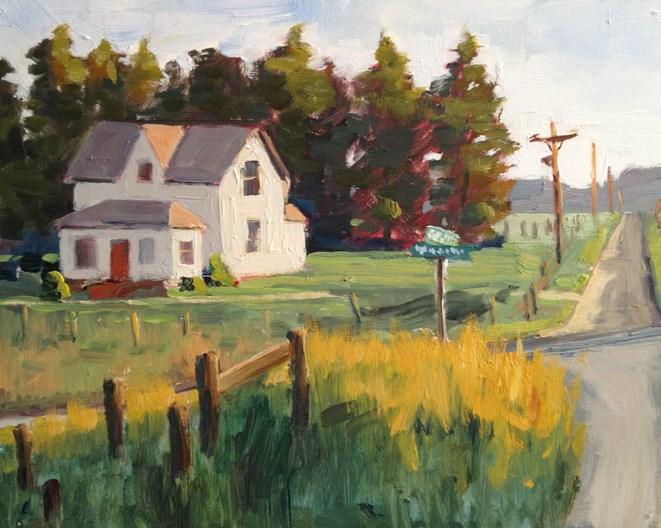 """""""Montana Crossroads"""" original fine art by Deborah Newman"""