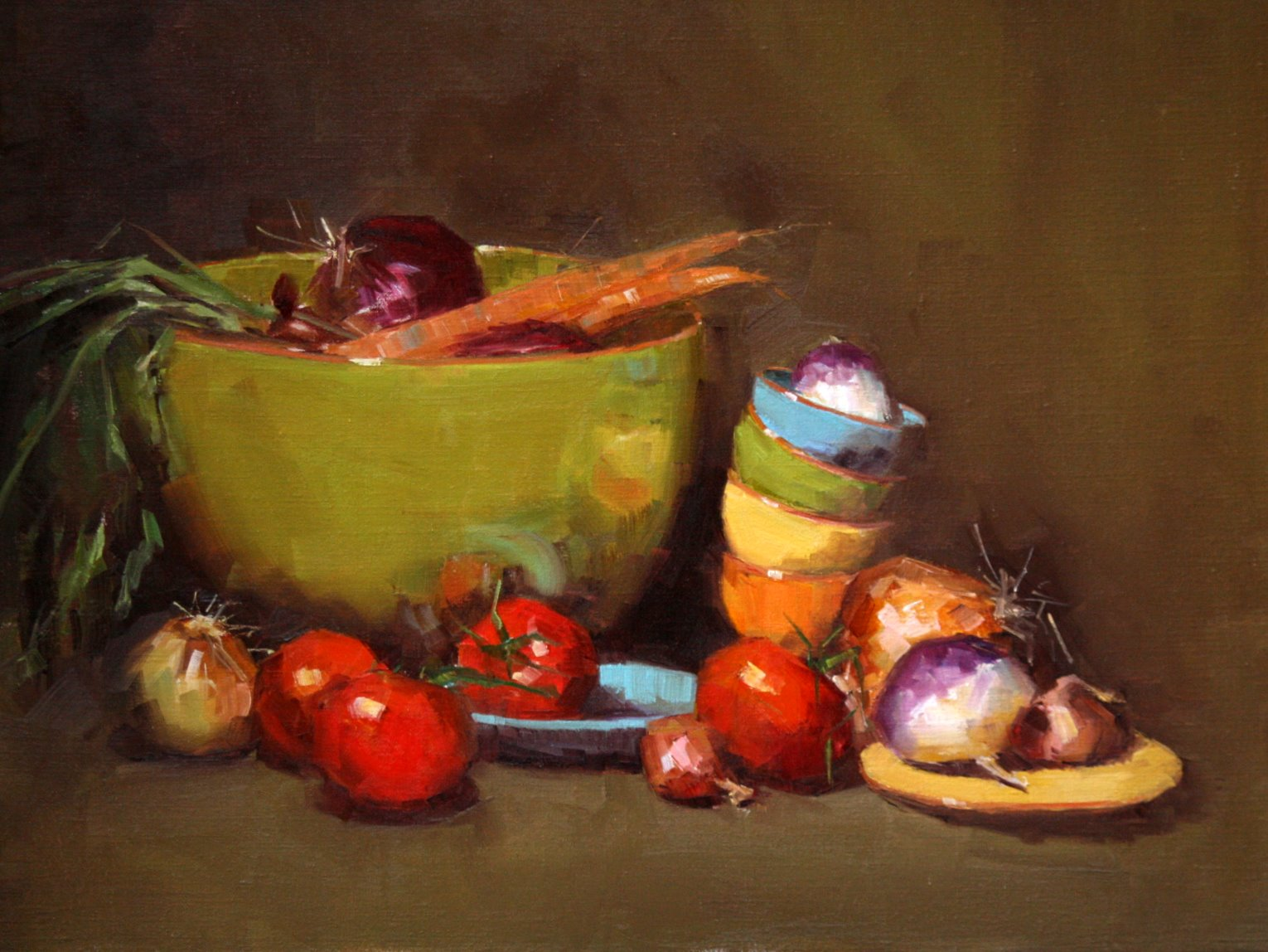 """vegetable medley"" original fine art by Carol Carmichael"