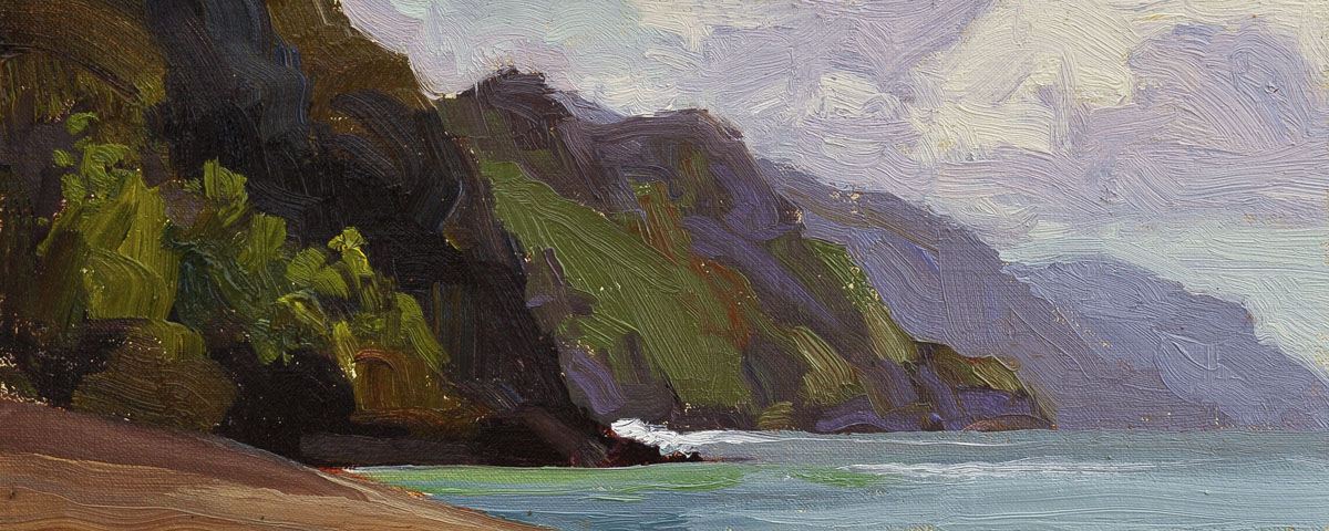 """NaPali Coast"" original fine art by Liz Wiltzen"