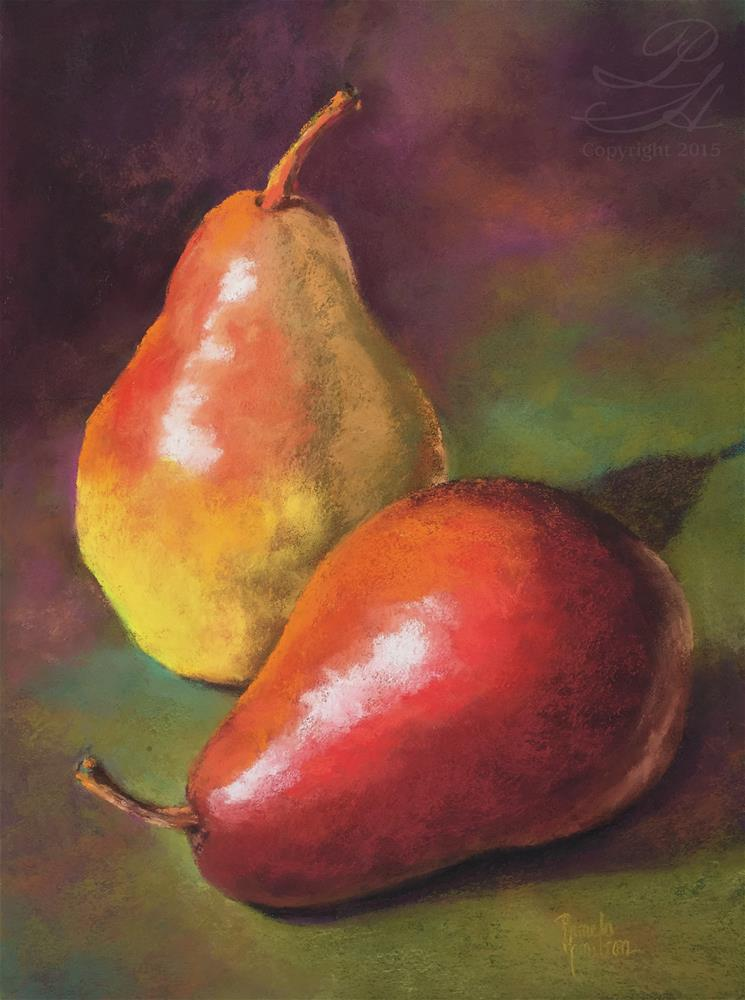 """Pair of Pears"" original fine art by Pamela Hamilton"