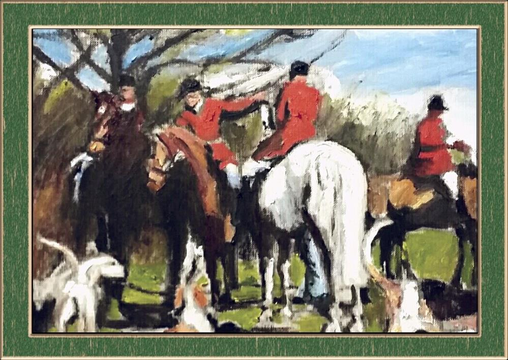 """""""Getting Ready To Hunt (9 x 12 Oil on canvas sheet - no frame)"""" original fine art by Ramon DelRosario"""