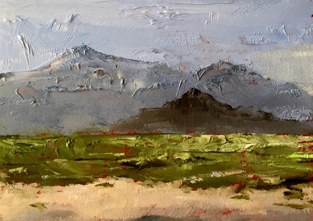 """Palm Springs Mountains"" original fine art by Gary Bruton"
