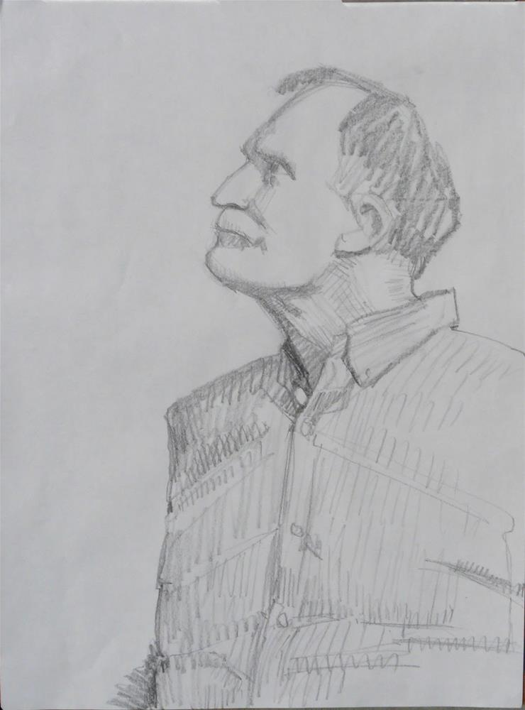 """John,Portrait,graphite drawing on paper,24x18,Price$100"" original fine art by Joy Olney"