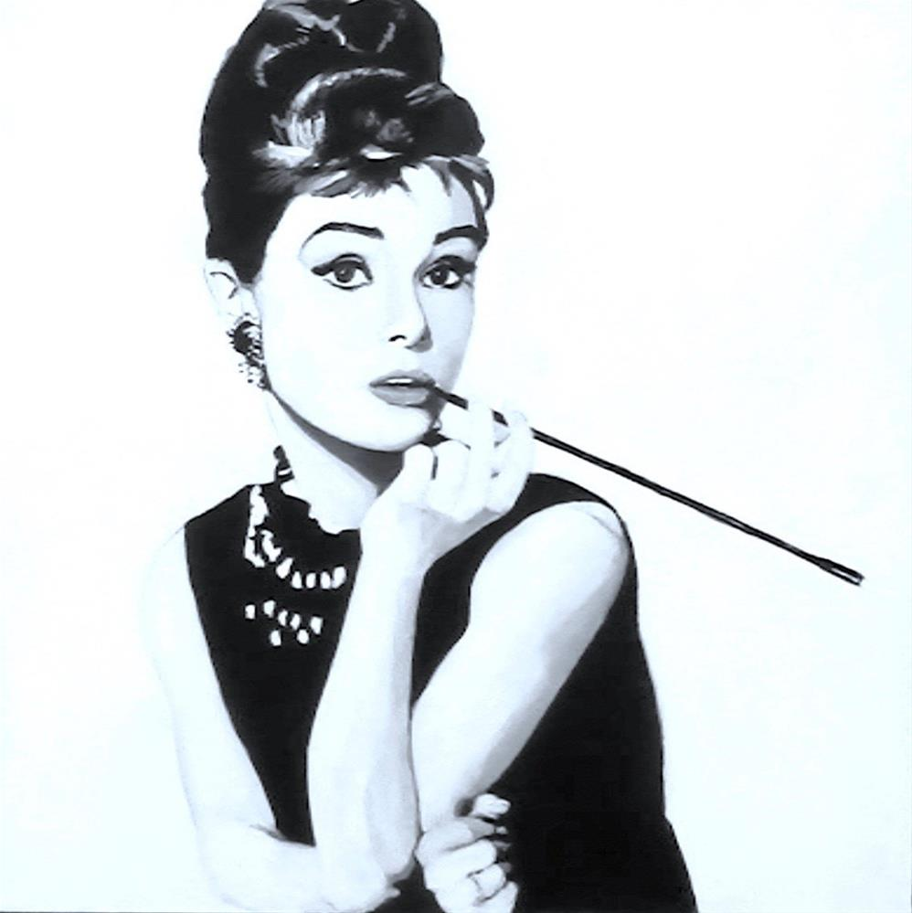 """Audrey Hepburn"" original fine art by Fred Medley"