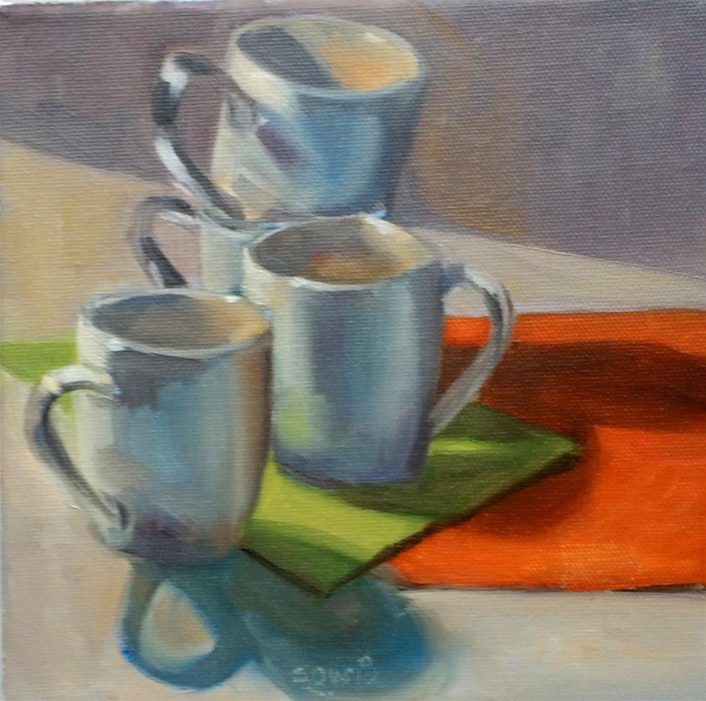 """""""C - is for Cups and more Cups"""" original fine art by Suzanne Gysin"""
