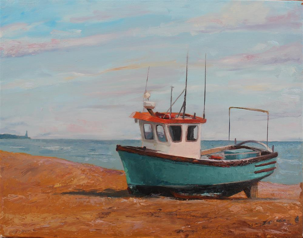 """Fishing boat"" original fine art by Marco Vazquez"