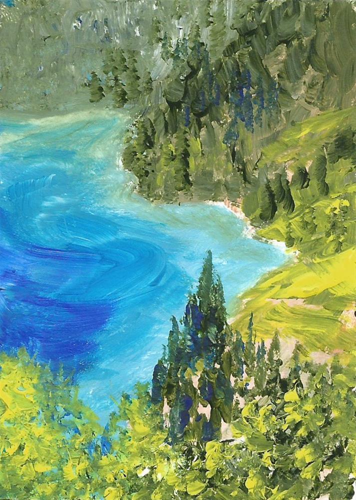 """6087 - KALAMALKA COVE ACEO"" original fine art by Sea Dean"