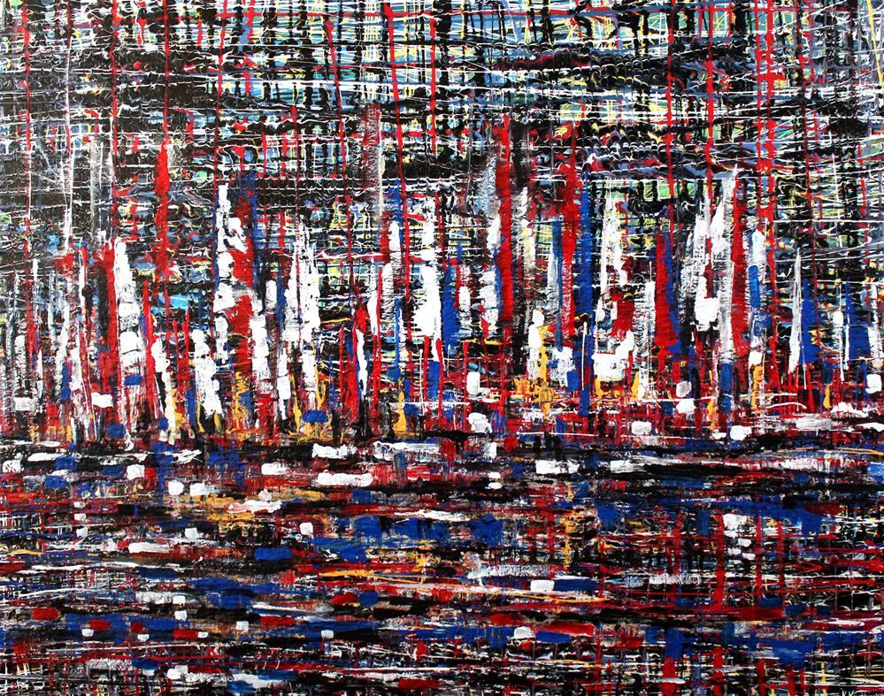 """""""Boat Parade"""" original fine art by Khrystyna Kozyuk"""