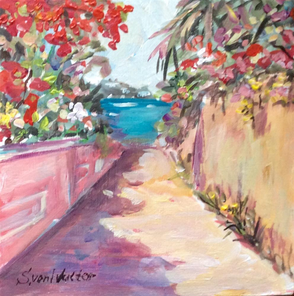 """Bermuda Lane Painting"" original fine art by Sonia von Walter"