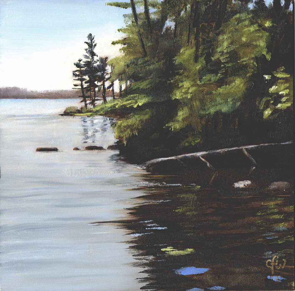 """Trees by the Shore"" original fine art by Gary Westlake"