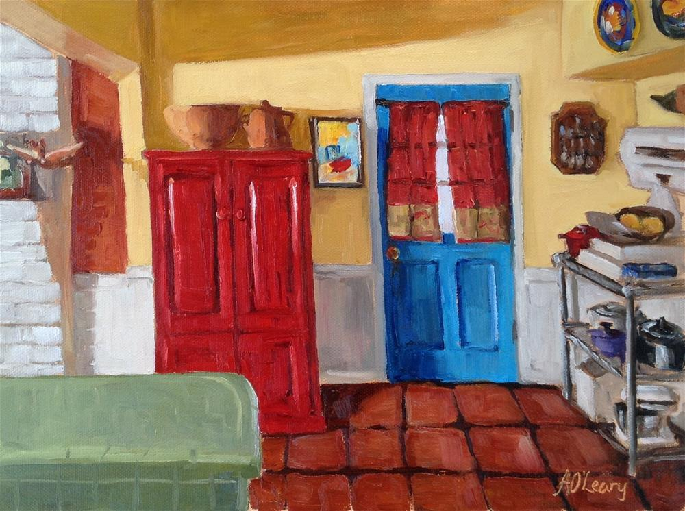 """Blue Door"" original fine art by Alice O'Leary"
