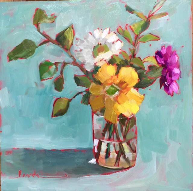 """Three's a Crowd"" original fine art by Martha Lever"