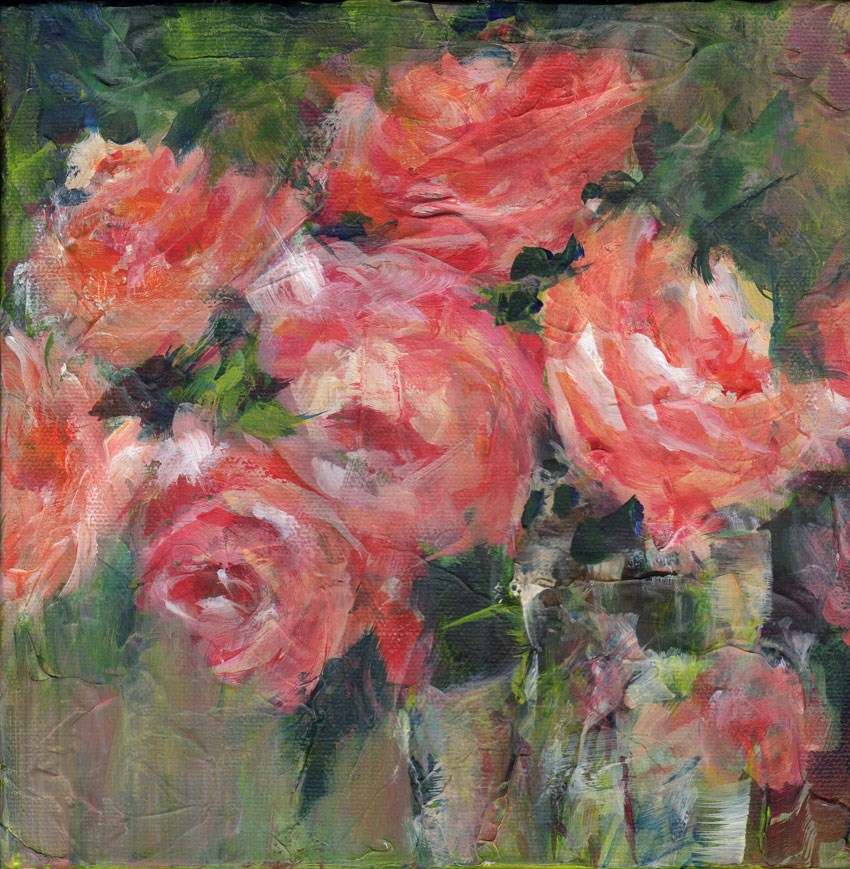 """Roses on the Dark Side"" original fine art by Sue Dion"