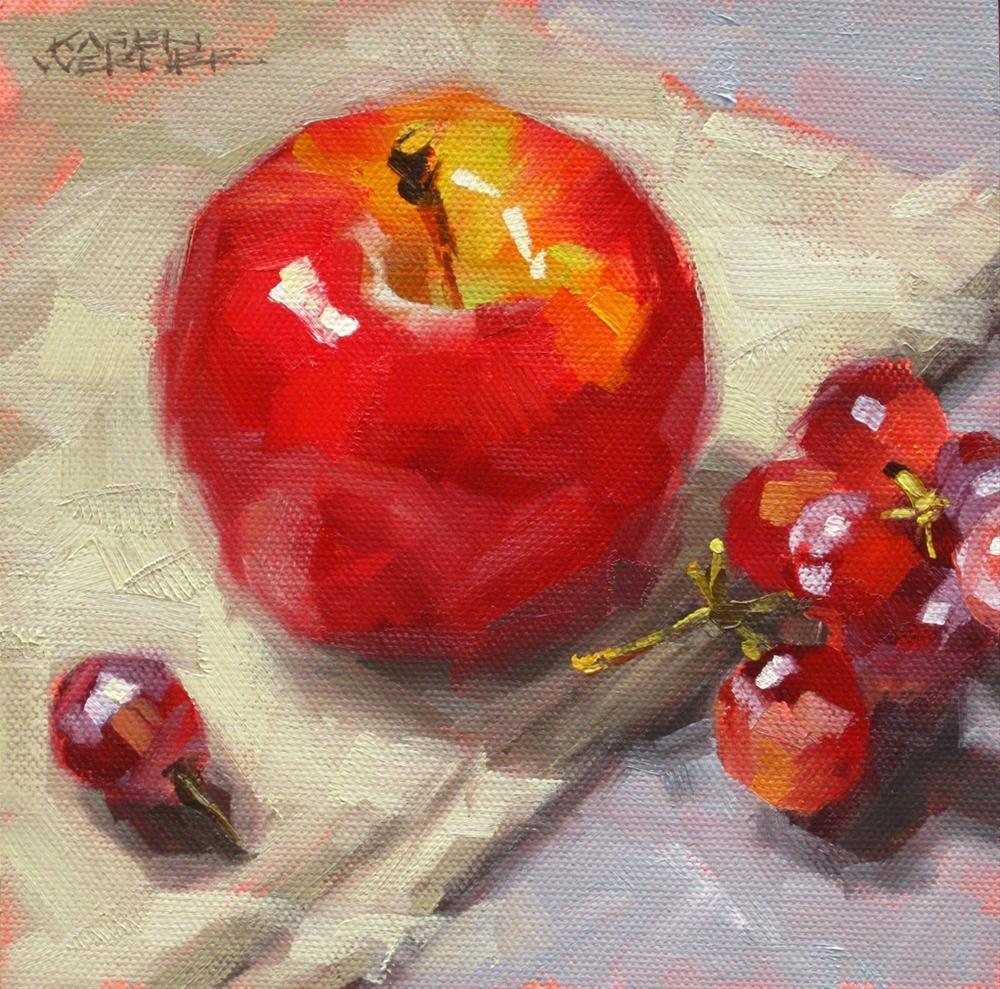 """Gala & Grapes"" original fine art by Karen Werner"